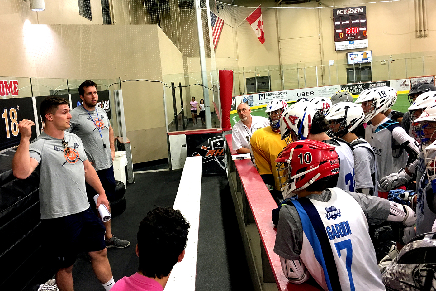 Syracuse Lacrosse Visits AZBOXLA